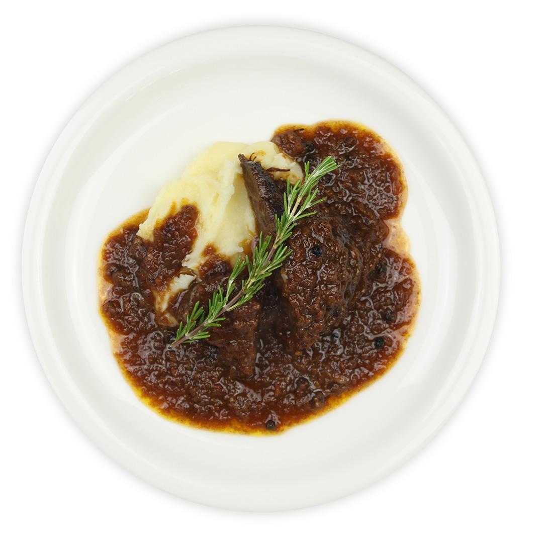 マッシュポテトと牛ホホのペポーゾソース(180g) | イタリア市場チェントロメルカート